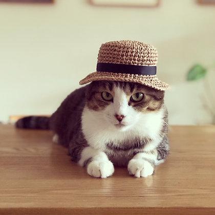 カンカン帽風 麦わら帽子