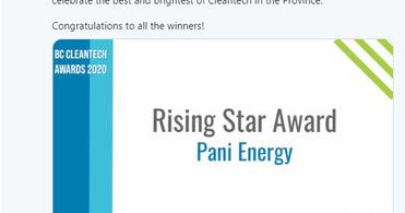 Rising Star Award goes to Pani Energy