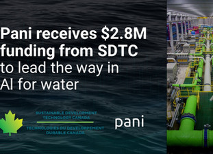Pani receives a $2.8M boost from SDTC to put AI to work for water