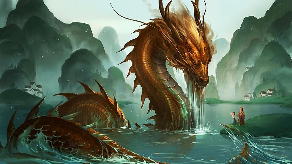 мифы, влияющие на обращение к психотерапевту, дракон, иллюстрация, люди,