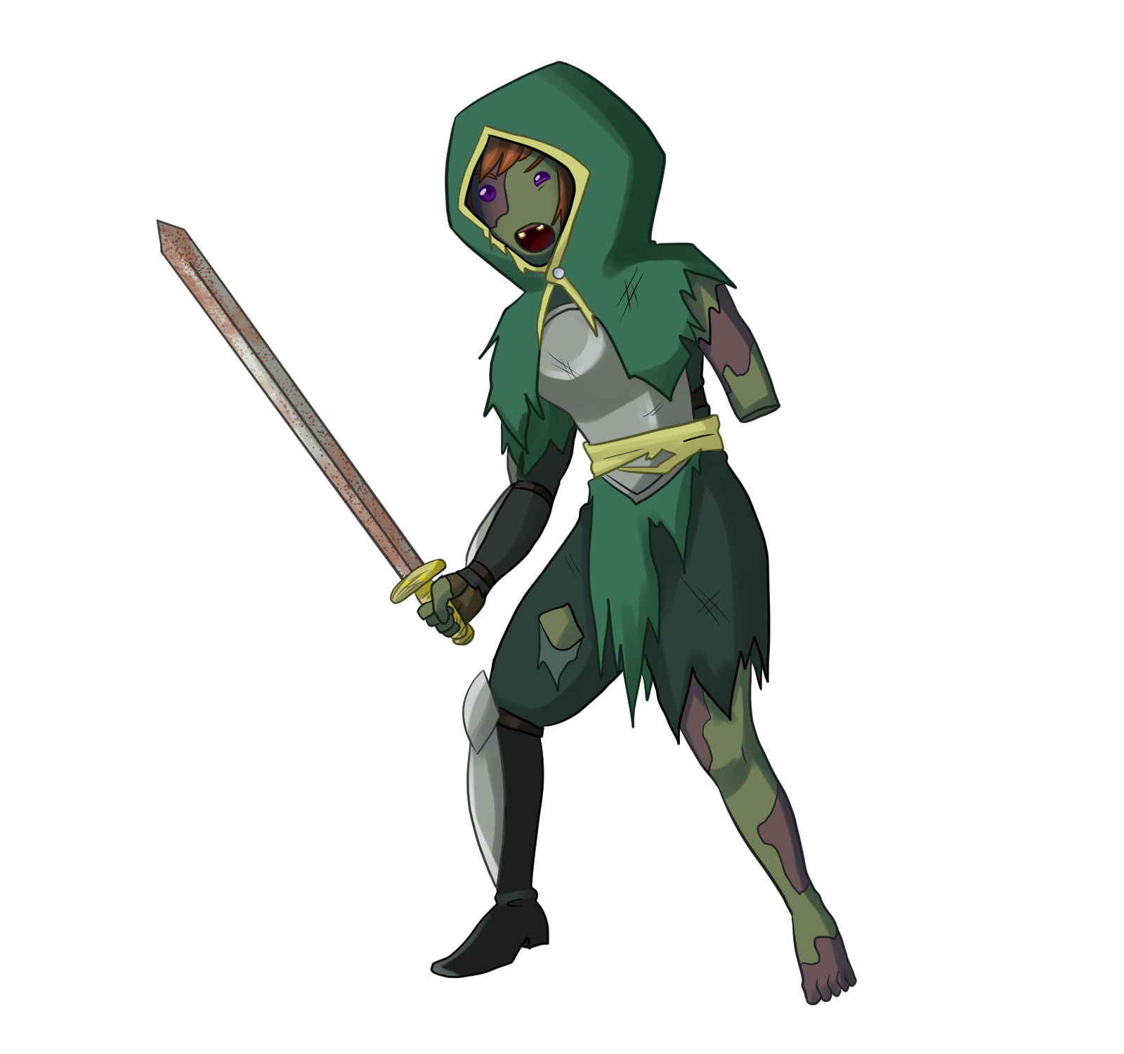 (In battle) Female Zombie Swordswoman