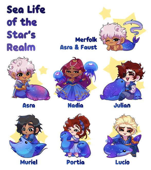Seal Life of the Star's Realm Charm Designs