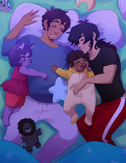 Keith and Lance Space Family
