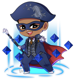 commission grover blue mage chibi no bg.