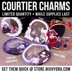 Arcana Courtier Shaker Charms
