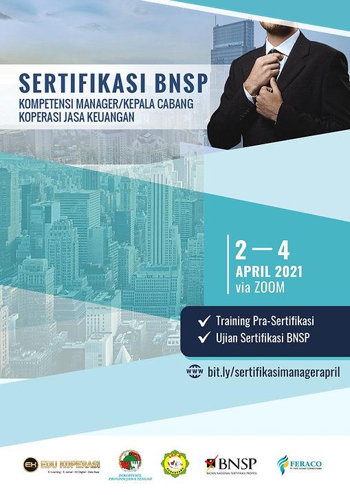 FRC- Sertifikasi Manajer Kop BNSP April