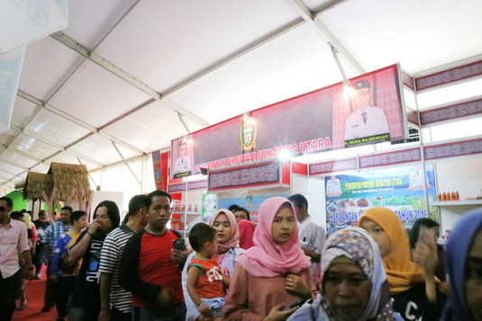 Suasana pengunjung di Pameran Hari Pangan Sedunia 2018