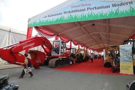 Area khusus Asosiasi ALSINTANI (Alat Mesin Pertanian) di Pameran Hari Pangan Sedunia 2018.