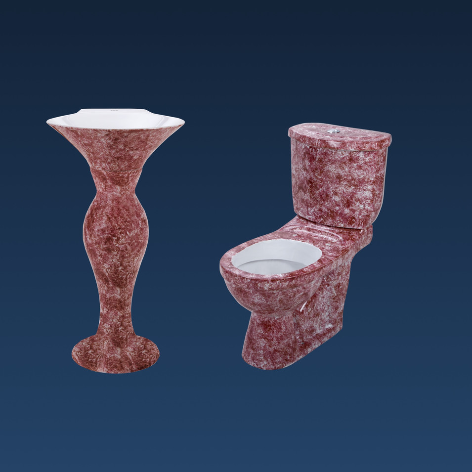 PINK PREMIUM WC WITH DOLPHIN W.B. SET