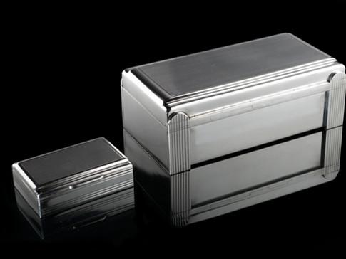 Twin Lined Box & Small Replica
