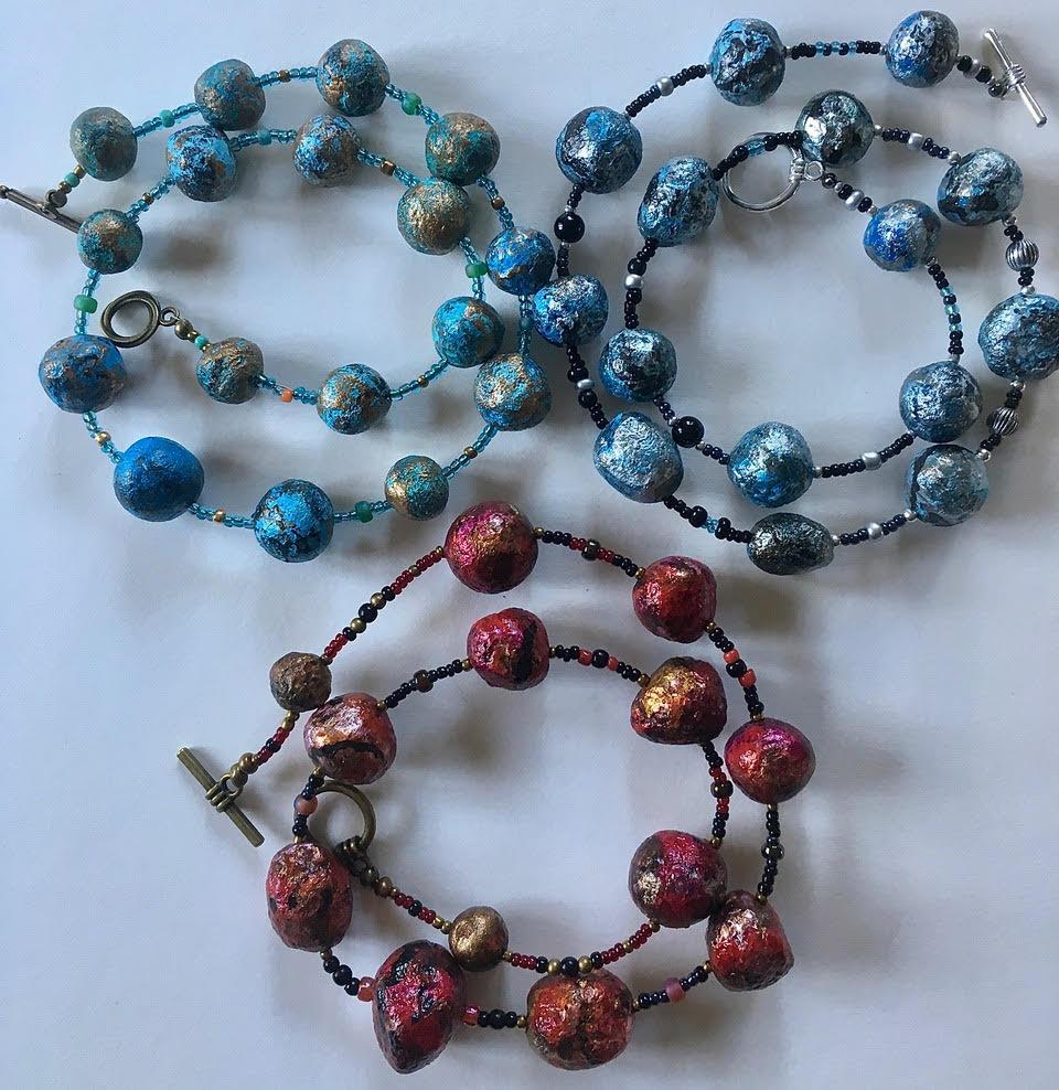 De Terra necklaces : Argent & Aurum