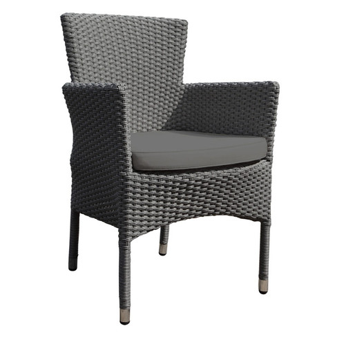 biarritz rattan stacking garden chair with cushion