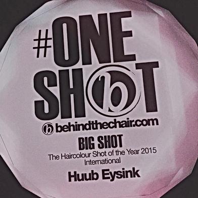 Award voor Huub Eysink : Haircolor Shot of the year
