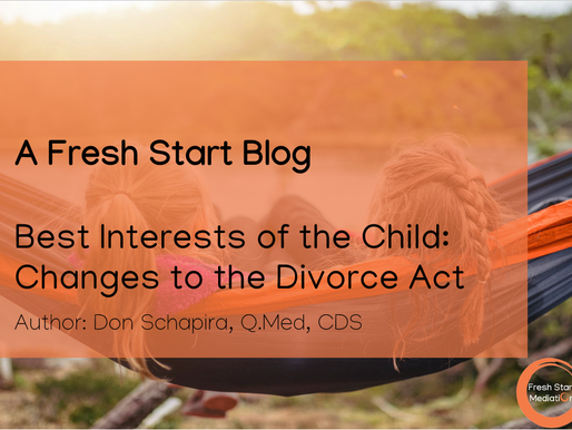 Best Interests of the Child: Changes to the Divorce Act