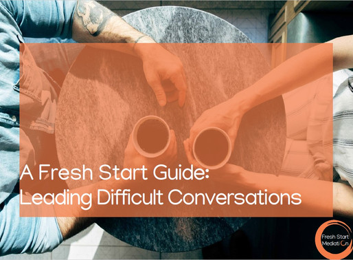 A Fresh Start Guide: Leading Difficult Conversations
