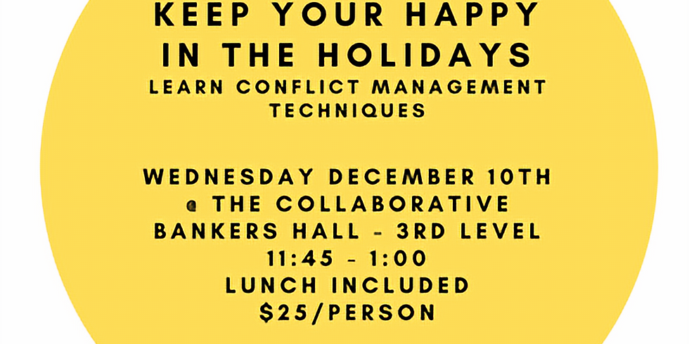 Keeping your HAPPY during the HOLIDAYS