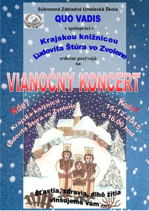 Vianočný koncert - Krajská knižnica Ľ. Štúra