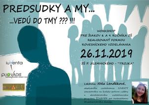 "Workshop ""Predsudky a my..."""