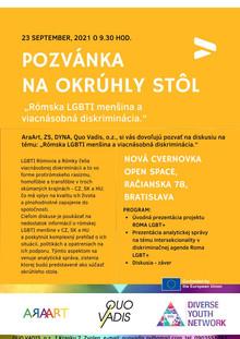 "Projekt  ""Roma LGBTI"" - okrúhly stôl"