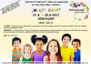 MULTI CAMP 21.8. - 25.8.2017