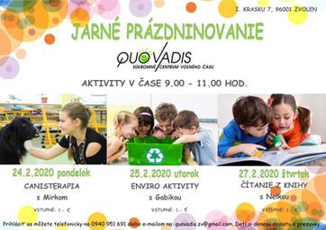 Jarné prázdninovanie v CVČ Quo vadis