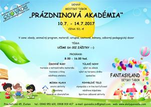 Prázdninová akadémia 10.7.- 14.7.2017