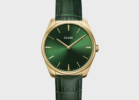 Reloj mujer Cluse 36 mm - CW0101212006  Féroce Leather Forest Green, Gold