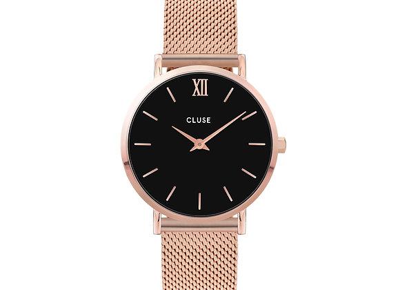 Reloj 33 mm - CW0101203003  Minuit Mesh Black, Rose Gold Colour