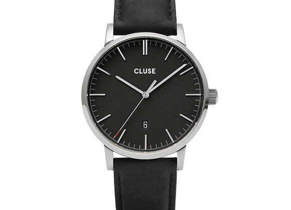 Reloj hombre Cluse 40 mm - CW0101501001  Aravis Leather Black, Silver