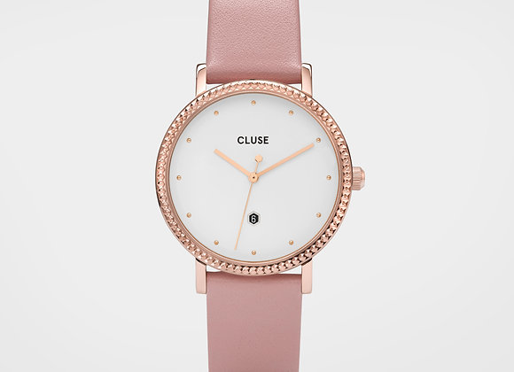 Reloj mujer Cluse 33 mm - CL63002  Le Couronnement Leather Pink, Rose Gold
