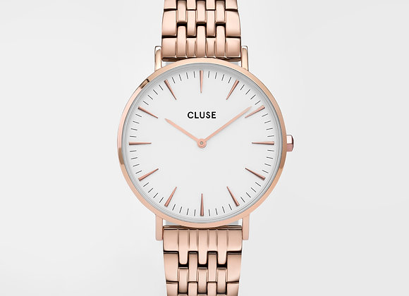 Reloj Cluse 38 mm - CW0101201024  Boho Chic Steel White, Rose Gold Colour
