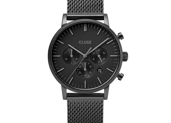 Reloj hombre Cluse 40 mm - CW0101502007  Aravis Chrono Mesh Full Black