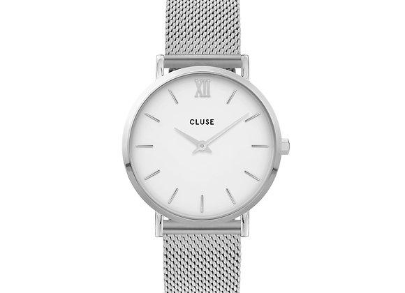 Reloj Minuit 33 mm - CW0101203002  Minuit Mesh White, Silver