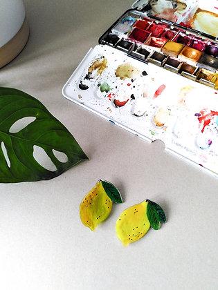 Broches citrons - pièces uniques