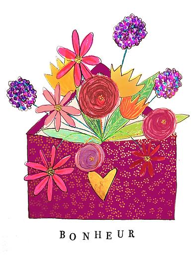 Bonheur - Impression d'après aquarelle originale