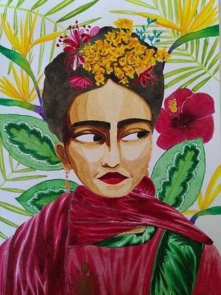 Frida - Aquarelle originale