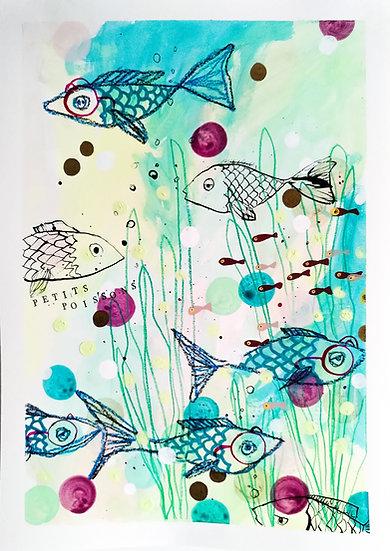 Art print - Les petits poissons