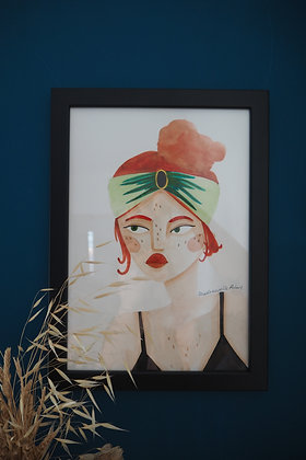 Le turban - Aquarelle originale