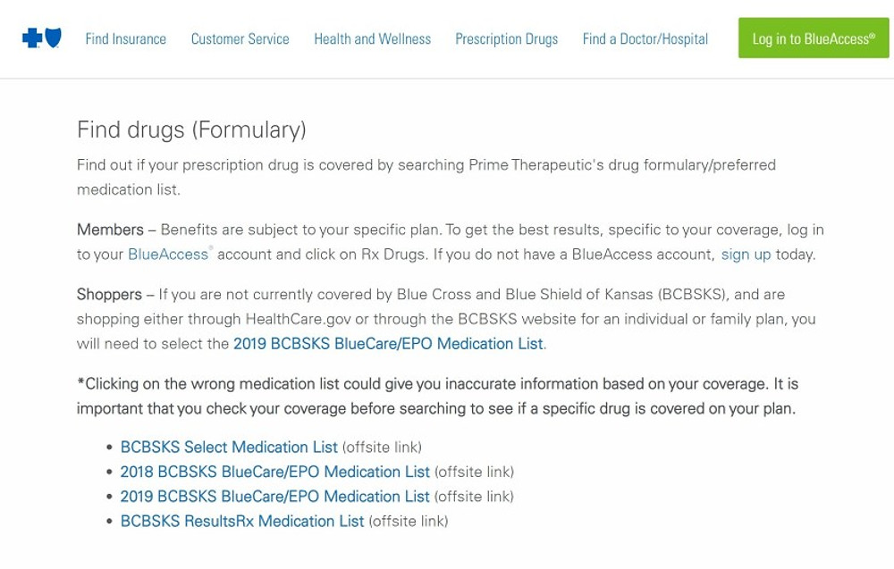 """I took this screenshot as an example of the various medication lists after searching """"BCBS medication."""" The best way to find your list is to log into your insurance portal and look for it. #formulary @adhdkcteen"""