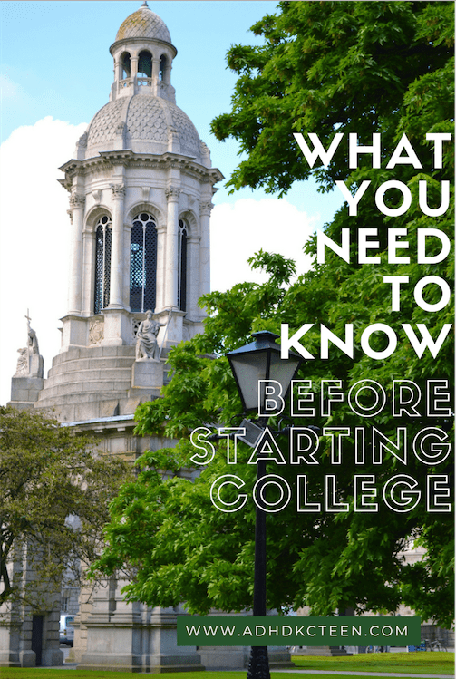 What to know before starting college.