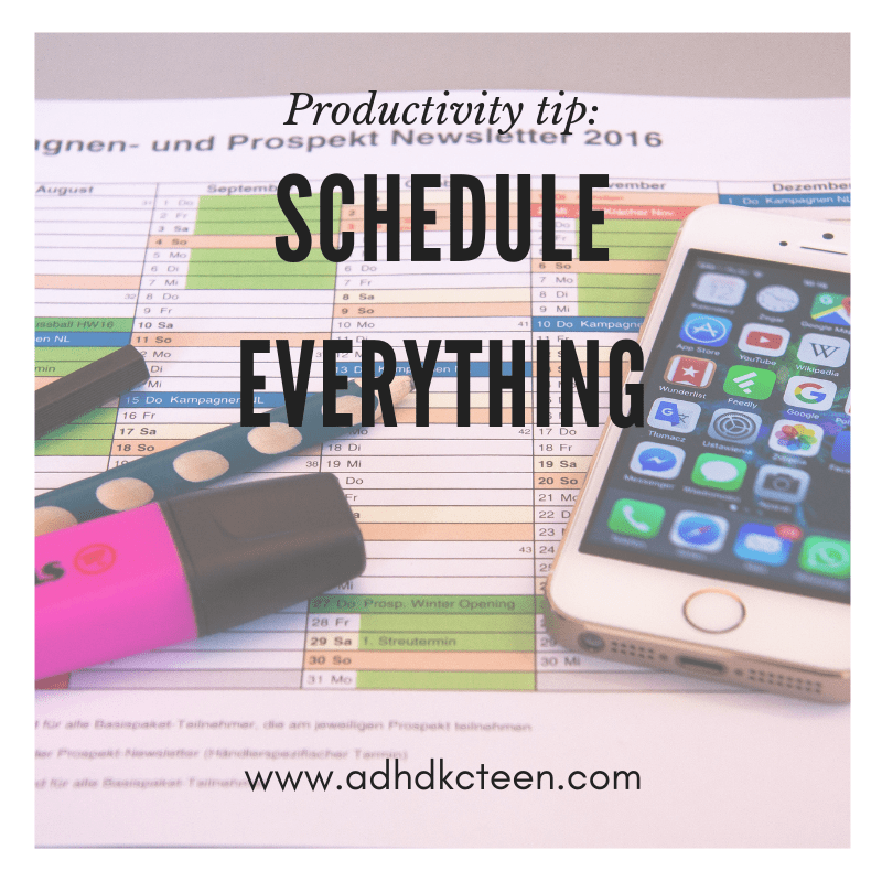 What can you do to be the most productive? Our top 10 secrets of productivity are found here! Start with a schedule!