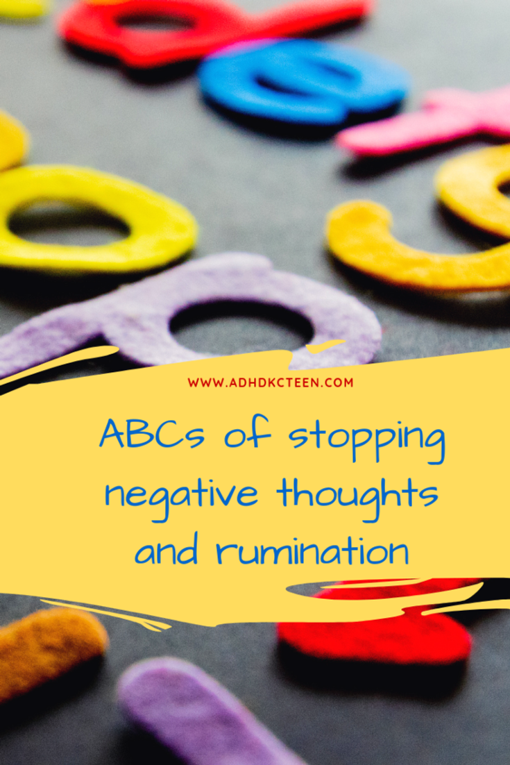 When we ruminate, we can't stop thinking the negative thought, which keeps us from finding appropriate solutions and moving forward. Learn how to overcome this with ABCs. @adhdkcteen #adhdteen #adhd