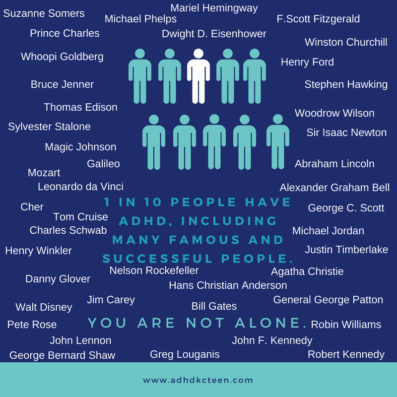 You're not alone if you have ADHD. And you're in great company.