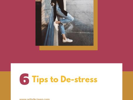 6 tips to de-stress