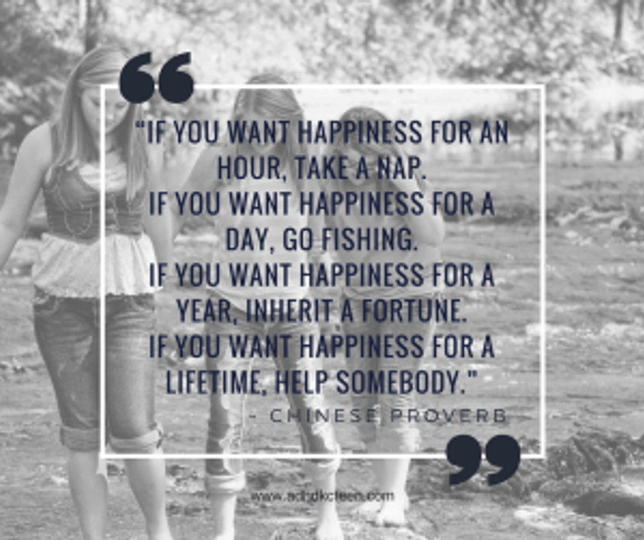 Chinese proverb- happiness
