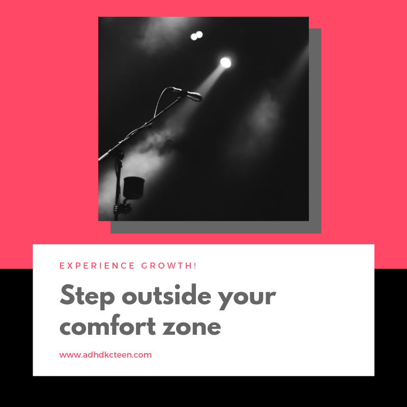 Take some risk in life by stepping outside your comfort zone to grow! #growthmindset