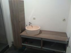 Installation du meuble vasque