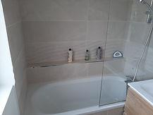 Baignoire, peinture, parquet, vasque