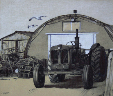 Tractor and Boat Sheds at Boulmer