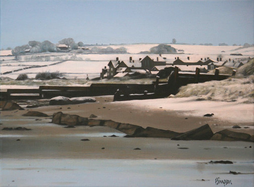 Alnmouth Beach in Snow 1